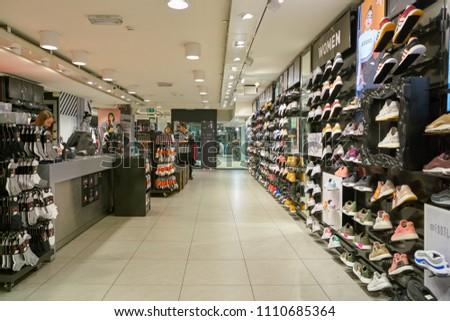 MILAN, ITALY - CIRCA NOVEMBER, 2017  inside Foot Locker store in Milan. 52a0be03a2f