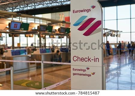 Milan Italy Circa November 2017 Eurowings Stock Photo Edit Now
