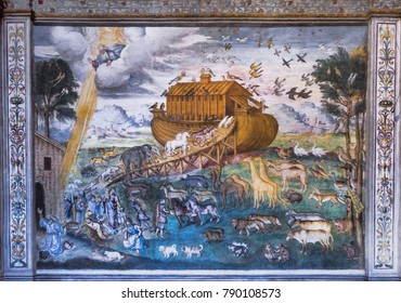 Milan, Italy - December 2017: Noah's Ark in St Maurizio church