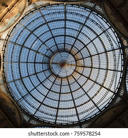 MILAN, ITALY - DECEMBER 30, 2013: Galleria Vittorio Emanuele II in central Milan. Huge shopping mall in Milano.