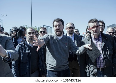 Milan, Italy- the deputy premier, Matteo Salvini, interior minister in Milan 2010-2016