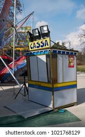 Milan, Italy - February 09, 2017 : Amusement park in Milan