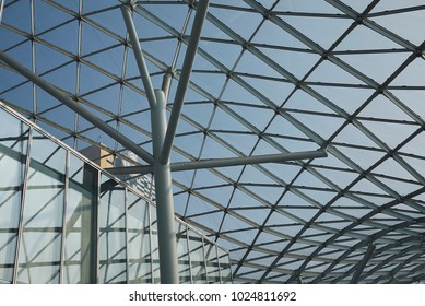 Milan, italy - February 11, 2018 : Details of the new Milan fair building