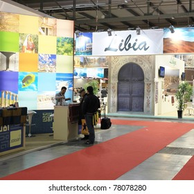 MILAN, ITALY - FEBRUARY 17: People visiting World international stands at BIT, International Tourism Exchange Exhibition on February 17, 2011 in Milan, Italy.