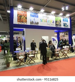 MILAN, ITALY - FEBRUARY 17: People visiting Sri Lanka tourism stand at BIT, International Tourism Exchange Exhibition on February 17, 2011 in Milan, Italy.