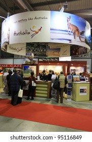 MILAN, ITALY - FEBRUARY 17: People visiting Australia tourism area at BIT, International Tourism Exchange Exhibition on February 17, 2011 in Milan, Italy.