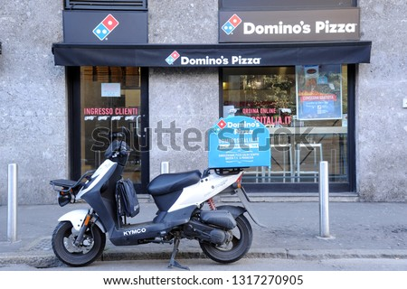 Milan Italy February 192019 Dominos Pizza Stock Photo Edit Now
