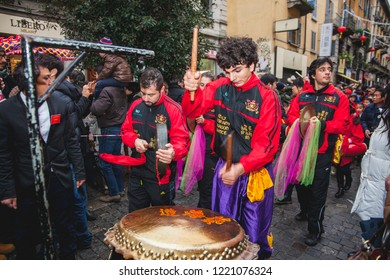 Milan (Italy), February 2, 2014 - The Chinese community celebrates the beginning of the year of the horse with the traditional parade. The event is followed by thousands of Milan.