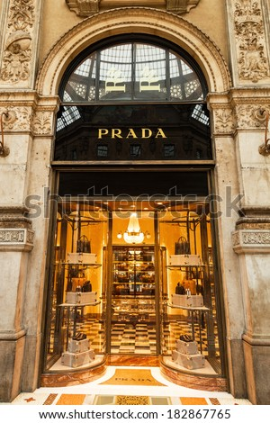 Milan Italy February 20 Prada Store Stock Photo Edit Now 182867765