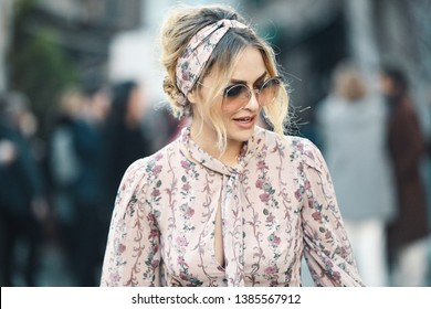 Milan, Italy - February 21, 2019: Street style – Look after a fashion show during Milan Fashion Week - MFWFW19