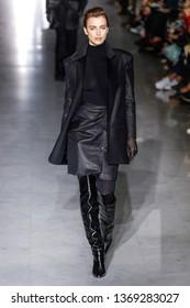 MILAN, ITALY - FEBRUARY 21:  Irina Shayk walks the runway at the Max Mara show at Milan Fashion Week Autumn/Winter 2019/20 on February 21, 2019 in Milan, Italy.