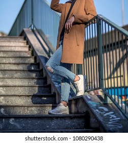 Milan, Italy - February 25, 2017: Man wearing a pair of Nike Air Max 90