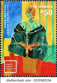 Milan, Italy - February 3, 2018: Beautiful painting by Matisse on postage stamp