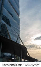 Milan, Italy - February 8, 2020: Milan, Lombardy, Italy: the modern Isozaki tower at Citylife