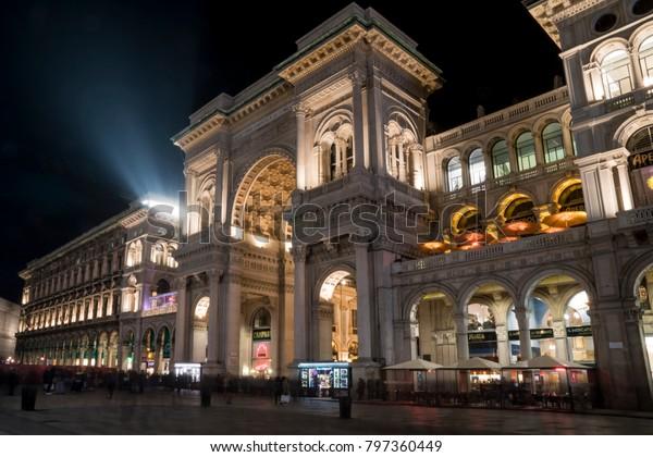 Milan Italy January 10 2018 Vittorio Buildings Landmarks