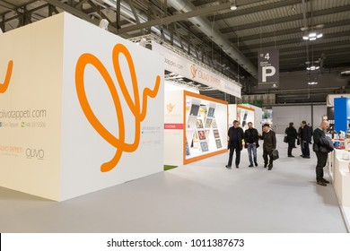 MILAN, ITALY - JANUARY 26: People visit HOMI, home international show and point of reference for all those in the sector of interior design on JANUARY 26, 2018 in Milan.