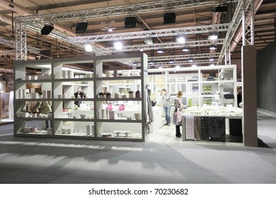 MILAN, ITALY - JANUARY 28: General view of design and interior decoration products at Macef, International Home Show Exhibition January 28, 2011 in Milan, Italy.