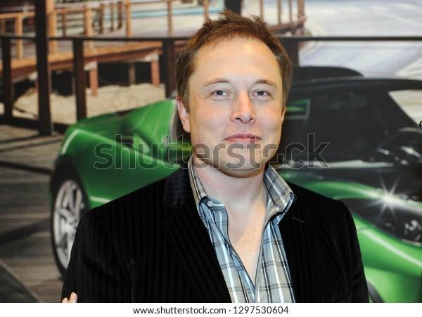 Milan - Italy january 28,2019  Elon Mask owner of Tesla electric car