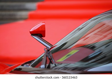 Milan, Italy - January 4, 2016: Ferrari Debuts on Milan Stock Exchange