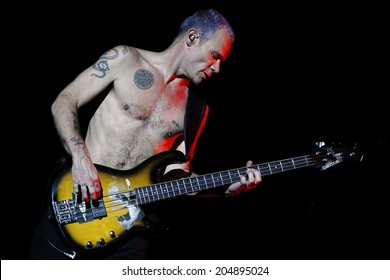 MILAN, ITALY - JULY 05: Michael Flea Balzary of Red Hot Chili Peppers performs live at the 2012 Heineken Jamming Festival on July 5, 2012 in Milan, Italy