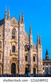 MILAN, ITALY - JULY 12, 2015: Famous Milan Cathedral, Duomo in a beautiful summer day on July 12, 2015 in Milan, Italy.