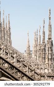 Milan, Italy - july 14, 2015 Roof Milan Cathedral, Duomo