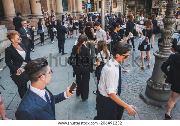 Milan Italy July 16 Business People Stock Photo (Edit Now