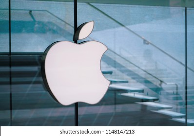Milan, Italy - July 2018: Apple flagship store in piazza Liberty Milan