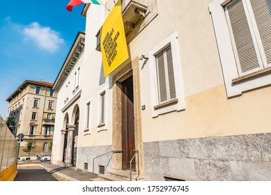 """MILAN, ITALY - JULY 23, 2019: Museo Nazionale Scienza e Tecnologia """"Leonardo da Vinci"""" in Milan is the largest science and technology museum in Italy."""