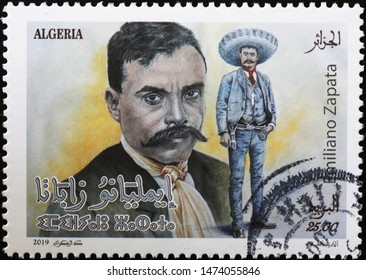 Milan, Italy – July 29, 2019: Mexican revolutionary Emiliano Zapata on postage stamp