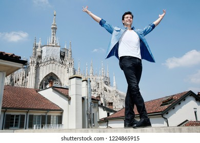MILAN, ITALY - JUNE 05: Roberto Bolle attends the press conference of 'On Dance Festival' on June 5, 2018 in Milan, Italy.