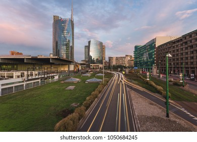 MILAN, ITALY - June 15, 2017: Skyline new business district Milano Porta Nuova Garibaldi.