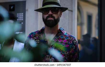 MILAN, Italy- June 15 2019: Raimondo Rossi on the street during the Milan Fashion Week.