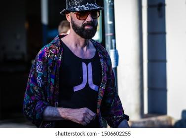 MILAN, Italy- June 16 2019: Raimondo Rossi on the street during the Milan Fashion Week.