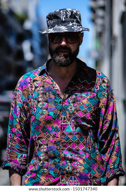 MILAN, Italy- June 16 2019: Raimondo Rossi on the street during the Milan Fashion Week.