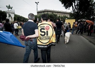MILAN, ITALY - JUNE 2: Thousands of people take part to the celebration of the republic. Among the participants was also the new mayor of Milan Giuliano Pisapia in Milan on June 2, 2011