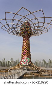 MILAN, ITALY - JUNE 29 1015: Albero della Vita at Expo 2015 in Milan, symbol of Italy at the exhibition, with nobody around