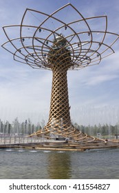 MILAN, ITALY - JUNE 29 2015: Day view of Expo Tree of Life, in the external area of Italian Pavilion