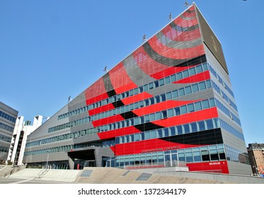 MILAN, ITALY - MARCH 13, 2019: AC Milan football team headquarters in Milan, Italy.