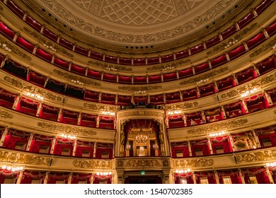 MILAN, ITALY – MARCH 15, 2017: World famous La Scala (Teatro alla Scala, 1778) - an opera house in Milan interior.