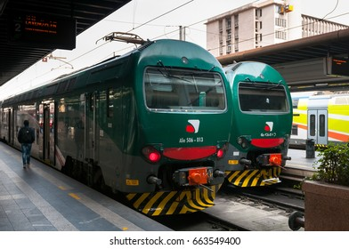 MILAN, ITALY - MARCH 15, 2017: Trains in Milan.