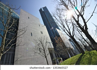 Milan. Italy. March 21 2019. Palazzo Lombardia, is the seat of the regional regional offices of the Lombardy Region. The project of the architectural complex is by the Pei Cobb Freed & partners