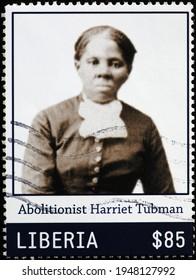 Milan, Italy  - March 30, 2021: Abolitionist Harriet Tubman on postage stamp