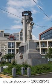 Milan, Italy - May 09, 2018: Monument 'Ai caduti di Musocco'