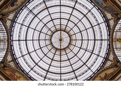 MILAN, ITALY - MAY 1, 2015 : Galleria Vittorio Emanuele II in Milan. It's one of the world's oldest shopping malls, designed and built by Giuseppe Mengoni between 1865 and 1877.