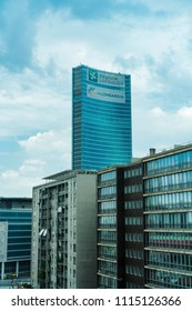 Milan, Italy - May 12 2018: Lombardy region building skyscraper. Day view of Palazzo Lombardia, Lombardy government main seat 39-storey building.