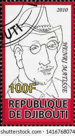 Milan, Italy - May 17, 2019: Self portrait by Henry Matisse on postage stamp