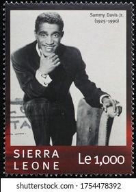 Milan, Italy - May 19, 2020: Young Sammy Davis Jr. on postage stamp
