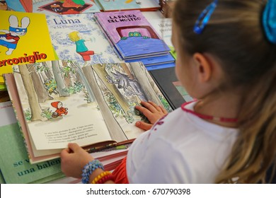 Milan, Italy, May 21,2017: Children's space at the book fair