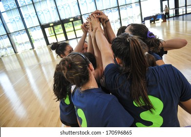 MILAN, ITALY - MAY 27: college sports finals in Milan May 27, 2013. Female volleyball.